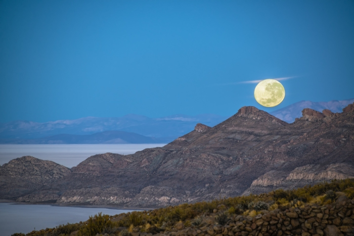 Moon Setting in Bolivia