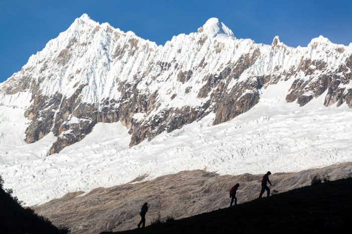 Hikers in Huaraz, Peru