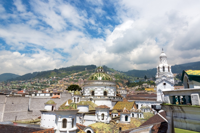 Quito Cathedral Dome and Spire
